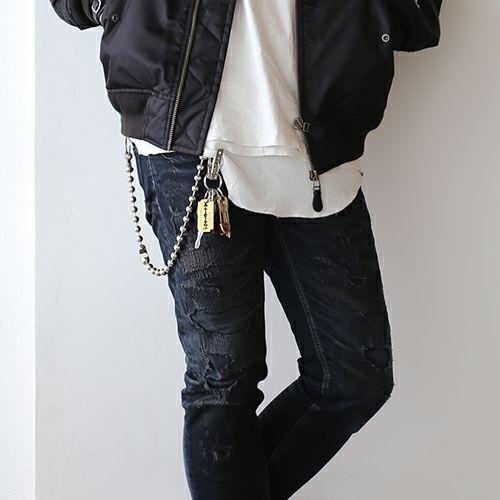 【JAM HOME MADE(ジャムホームメイド)】A-アナーキー ウォレットチェーン M メンズ おすすめ ブランド 人気 シルバー 財布 チェーン シンプル ボールチェーン パンク ロック