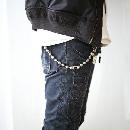 【JAM HOME MADE(ジャムホームメイド)】A-アナーキー ウォレットチェーン S メンズ ブランド 人気 シルバー 財布 チェーン シンプル ボールチェーン パンク ロック