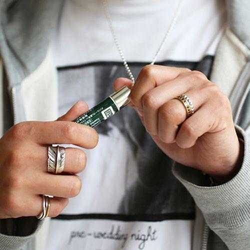 ネックレス / リップキャップ ネックレス -GREEN- メンズ レディース シルバー 人気 ブランド おすすめ ギフト プレゼント 誕生日 アクセサリー メンソレータム KIEHL'S スキンケア