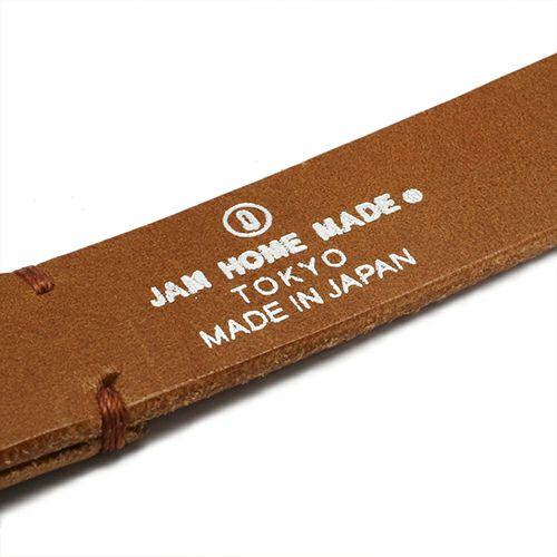 【JAM HOME MADE(ジャムホームメイド)】POST 2巻レザーブレスレット -BROWN- メンズ レザー イタリアンレザー 人気 ブランド 太め おすすめ バックル リスシオ ギフト プレゼント
