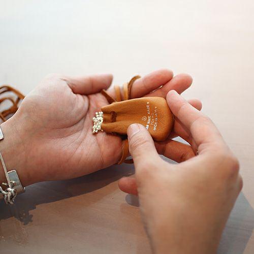 【JAM HOME MADE(ジャムホームメイド)】インゴット シークレットネックレス -BROWN- メンズ シルバー レザー 人気 ブランド おすすめ プレゼント アクセサリー 巾着