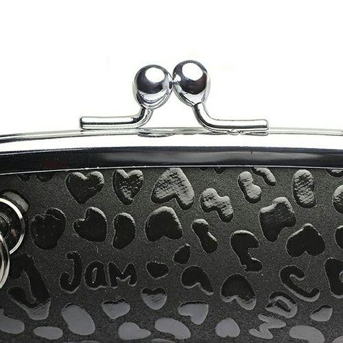 【JAM HOME MADE(ジャムホームメイド)】BLACK DIAMOND 印傳屋(印伝屋) 印鑑ケース -LEOPARD- メンズ レディース 鹿革 上原勇七 ブラック ブランド おすすめ 人気 誕生日 プレゼント シャチハタ 入れ 日本製
