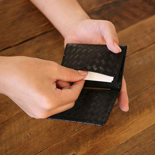 【ジャムホームメイド(JAMHOMEMADE)】印傳 - 印伝屋 4月 誕生石  名刺入れ カードケース 無響柄