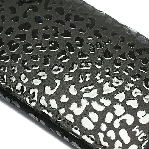 【JAM HOME MADE(ジャムホームメイド)】BLACK DIAMOND 印傳屋(印伝屋) カードケース -LEOPARD- / 名刺入れ メンズ レディース ユニッセックス 鹿革 上原勇七 ブラック おすすめ 人気 誕生日 プレゼント 日本製