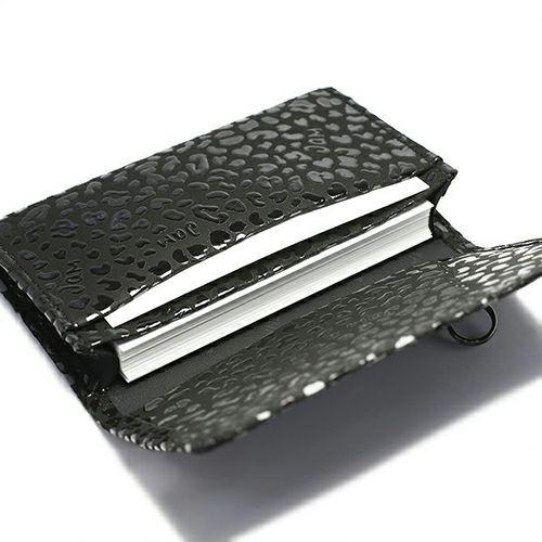 1月 誕生石 印傳屋(印伝屋) カードケース -LEOPARD- / 名刺入れ