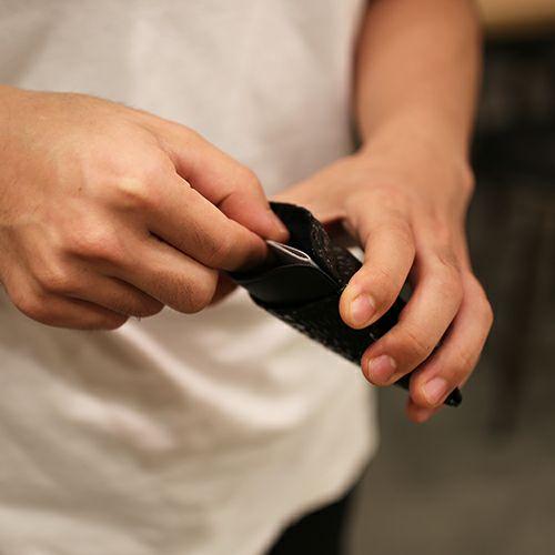 【JAM HOME MADE(ジャムホームメイド)】6月 誕生石 ムーンストーン 印傳屋(印伝屋) コインケース TYPE-2 -ANECHOIC- / 小銭入れ メンズ レディース 上原勇七 ブラック おすすめ 人気 誕生日 プレゼント 日本製 カード 薄い 使いやすい
