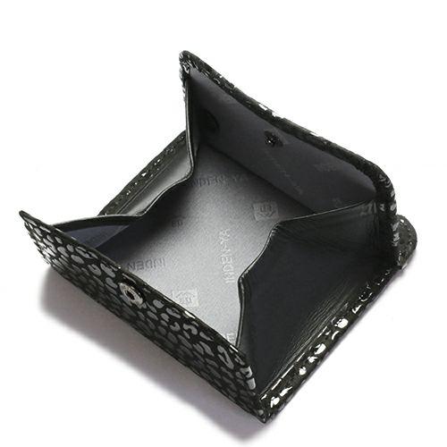 小銭入れ / 5月 誕生石 エメラルド 印傳屋(印伝屋) コインケース TYPE-2 -LEOPARD- メンズ レディース 上原勇七 ブラック おすすめ 人気 誕生日 プレゼント 日本製 カード 薄い 使いやすい