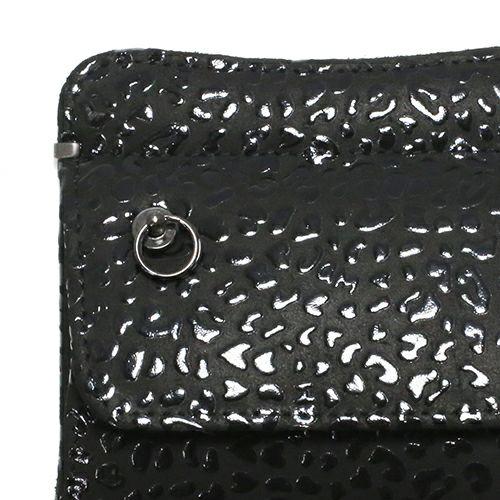 小銭入れ / 4月 誕生石 ダイヤモンド 印傳屋(印伝屋) コインケース TYPE-2 -LEOPARD- メンズ レディース 上原勇七 ブラック おすすめ 人気 誕生日 プレゼント 日本製 カード 薄い 使いやすい