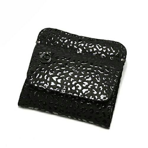 小銭入れ / 2月 誕生石 アメジスト 印傳屋(印伝屋) コインケース TYPE-2 -LEOPARD- メンズ レディース 上原勇七 ブラック おすすめ 人気 誕生日 プレゼント 日本製 カード 薄い 使いやすい