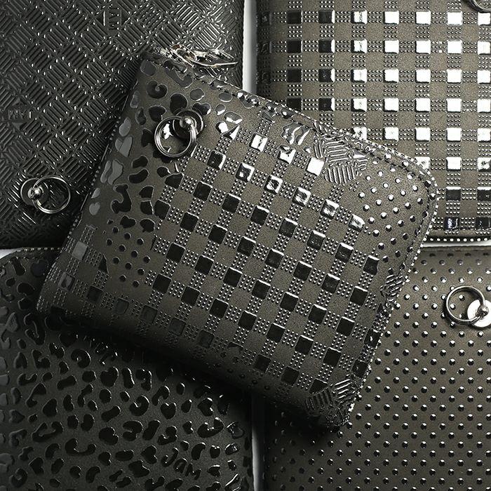 印傳屋(印伝屋) L字ファスナーウォレット -LEOPARD- / 小銭入れ / 財布・革財布
