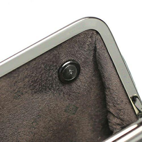 【ジャムホームメイド(JAMHOMEMADE)】印傳 - 印伝屋 5月 誕生石  二つ折り財布 親子 がま口財布 無響柄