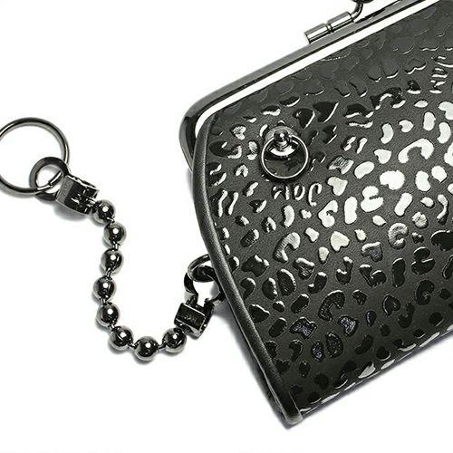 【ジャムホームメイド(JAMHOMEMADE)】印傳 - 印伝屋 7月 誕生石  二つ折り財布 親子 がま口財布 レオパード柄