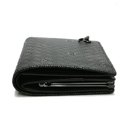 6月 誕生石 印傳屋(印伝屋) ミディアムウォレット・がま札財布 -ANECHOIC- / 二つ折り財布