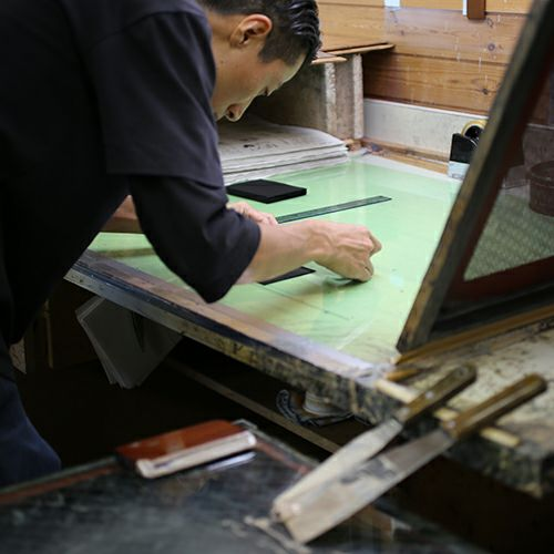 5月 誕生石 印傳屋(印伝屋) ミディアムウォレット・がま札財布 -ANECHOIC- / 二つ折り財布