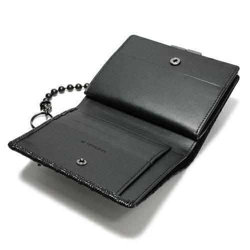 2月 誕生石 印傳屋(印伝屋) ミディアムウォレット・がま札財布 -ANECHOIC- / 二つ折り財布