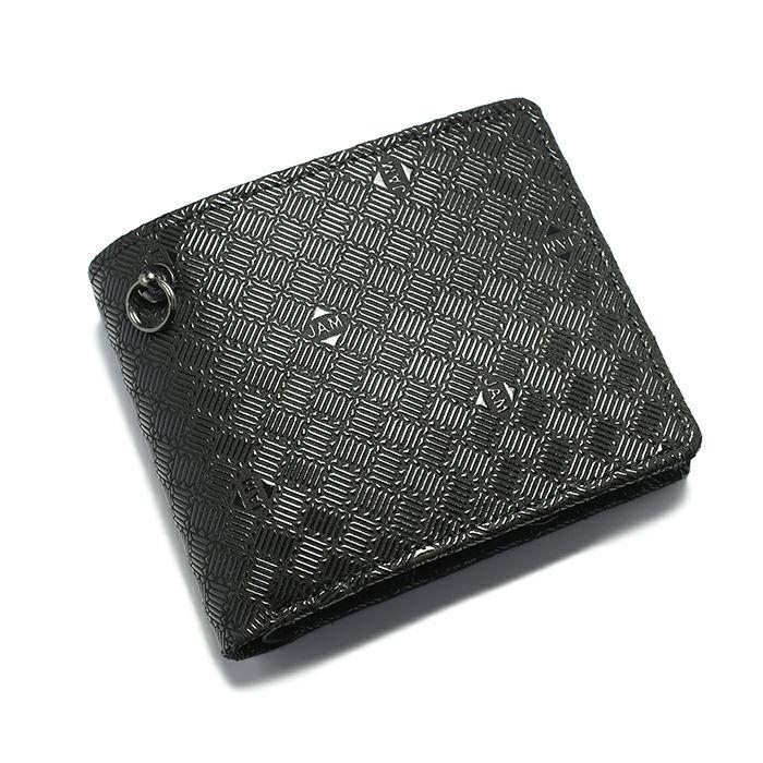 10月 誕生石 印傳屋(印伝屋) ミディアムウォレット -ANECHOIC- / 二つ折り財布