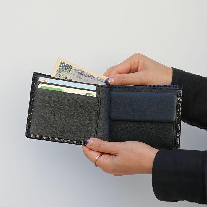 1月 誕生石 印傳屋(印伝屋) ミディアムウォレット -ANECHOIC- / 二つ折り財布