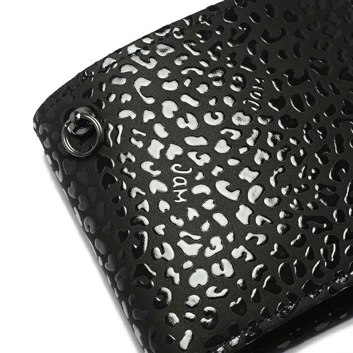 12月 誕生石 印傳屋(印伝屋) ミディアムウォレット -LEOPARD- / 二つ折り財布