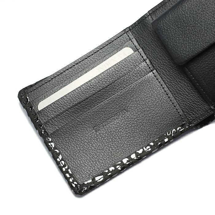 10月 誕生石 印傳屋(印伝屋) ミディアムウォレット -LEOPARD- / 二つ折り財布