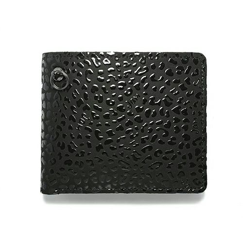 4月 誕生石 印傳屋(印伝屋) ミディアムウォレット -LEOPARD- / 二つ折り財布