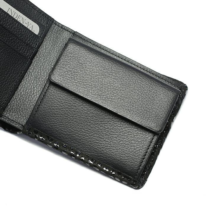 1月 誕生石 印傳屋(印伝屋) ミディアムウォレット -LEOPARD- / 二つ折り財布 / 財布・革財布