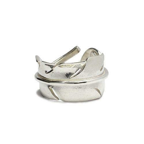 【JAM HOME MADE(ジャムホームメイド)】NAKEDフェザーリング M / 指輪 メンズ シルバー 人気 ブランド おすすめ 羽 ネイティブ モダン