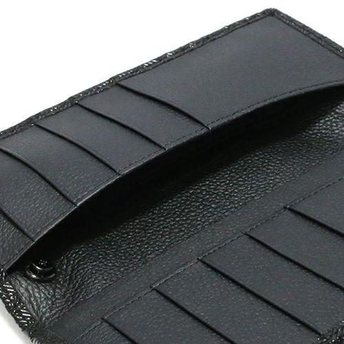 長財布 / BLACK DIAMOND 印傳屋(印伝屋) ロングウォレット TYPE-2 -LEOPARD- メンズ レディース 上原勇七 おすすめ 人気 誕生日 プレゼント カード 薄い 日本製 ウォレットチェーン
