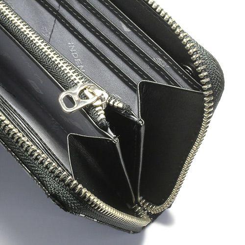 長財布 / 印傳屋(印伝屋) ファスナーロングウォレット TYPE-3 -ANECHOIC- メンズ レディース 上原勇七 ブラック おすすめ 人気 誕生日 プレゼント カード 日本製 ウォレットチェーン