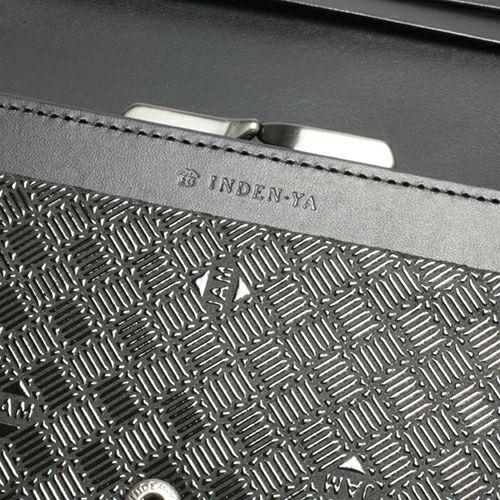 【ジャムホームメイド(JAMHOMEMADE)】印傳 - 印伝屋 4月 誕生石  長財布 束入れ がま口財布 無響柄