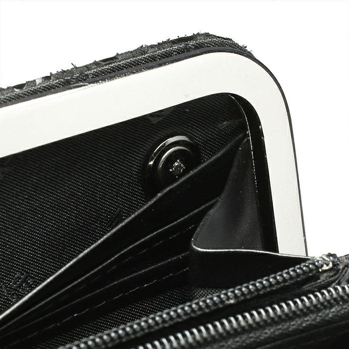 6月 誕生石 印傳屋(印伝屋) がま口ロングウォレット -LEOPARD- / 長財布 / 財布・革財布