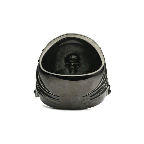 【JAM HOME MADE(ジャムホームメイド)】『パイレーツ・オブ・カリビアン / ワールド・エンド』 スカルリング M -BLACK- / 指輪 メンズ シルバー 人気 おすすめ ブランド コラボ ドクロ ガイコツ ジャック