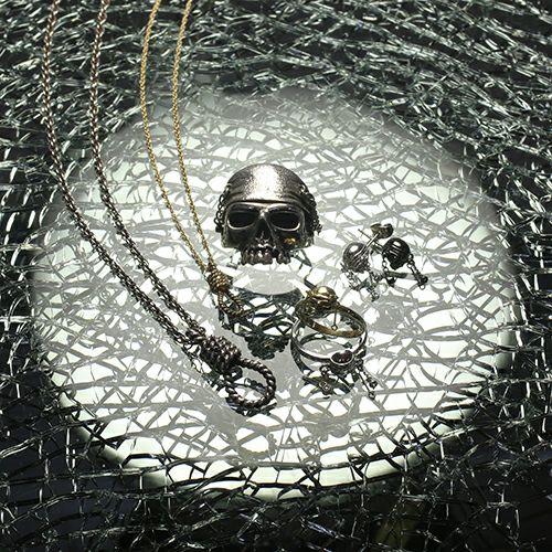 『パイレーツ・オブ・カリビアン / ワールド・エンド』 スカルリング M -BLACK- / 指輪