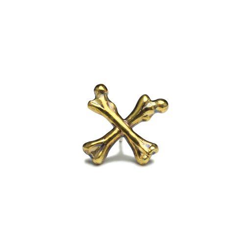 【JAM HOME MADE(ジャムホームメイド)】『パイレーツ・オブ・カリビアン/最後の海賊』 クロスボーンピアス -GOLD- メンズ ゴールド ブランド おすすめ 人気 誕生日 プレゼント ギフト 片耳 ディズニー コラボ ファングッズ ドクロ