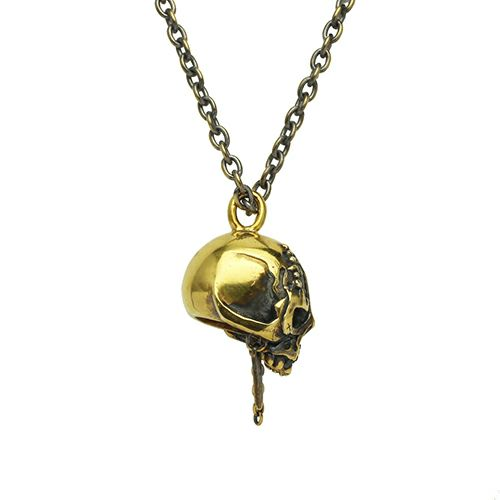 『パイレーツ・オブ・カリビアン/最後の海賊』 スカルネックレス -GOLD-
