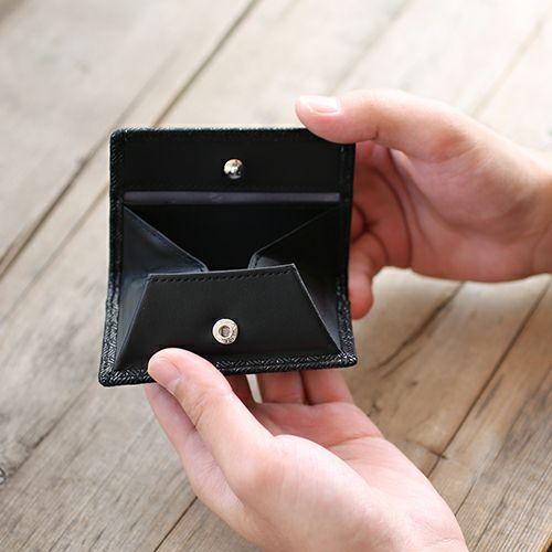 小銭入れ / 6月 誕生石 ムーンストーン 印傳屋(印伝屋) コインケース TYPE-3 -ANECHOIC- メンズ レディース 上原勇七 ブラック おすすめ 人気 誕生日 プレゼント 日本製 カード 薄い 使いやすい