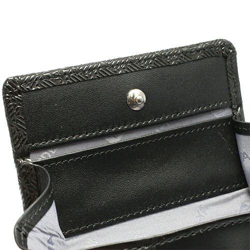 【ジャムホームメイド(JAMHOMEMADE)】印傳 - 印伝屋 4月 誕生石  小銭入れ コインケース ボックス型 無響柄