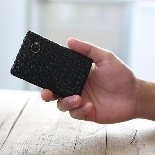 【JAM HOME MADE(ジャムホームメイド)】BLACK DIAMOND 印傳屋(印伝屋) コインケース TYPE-3 -LEOPARD- / 小銭入れ メンズ レディース 上原勇七 おすすめ 人気 誕生日 プレゼント 日本製 カード 薄い 使いやすい