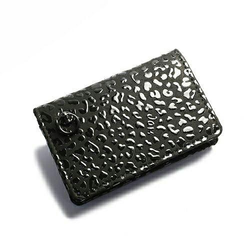 小銭入れ / 4月 誕生石 ダイヤモンド 印傳屋(印伝屋) コインケース TYPE-3 -LEOPARD- メンズ レディース 上原勇七 ブラック おすすめ 人気 誕生日 プレゼント 日本製 カード 薄い 使いやすい