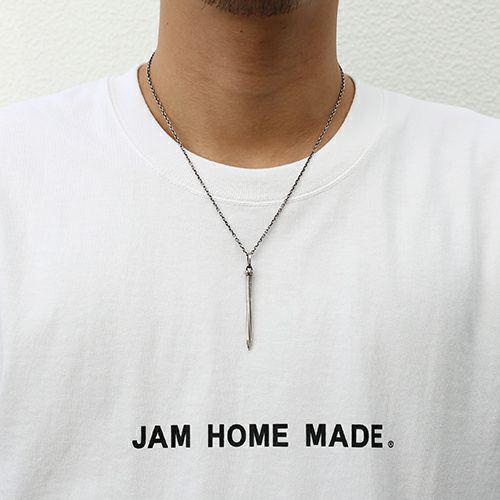 【JAM HOME MADE(ジャムホームメイド)】ネイルトップネックレス M メンズ シルバー 925 釘 モチーフ シンプル ダイヤモンド 人気 おすすめ ブランド ギフト ペア