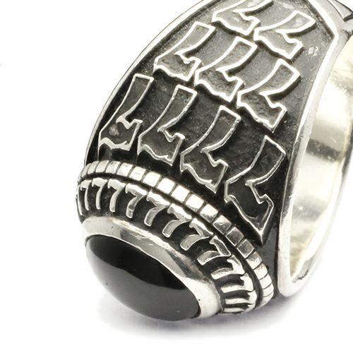 【JAM HOME MADE(ジャムホームメイド)】ラッキーカレッジリング / 指輪 メンズ シルバー 925 人気 おすすめ ブランド 本場 アメリカ オニキス スクールリング