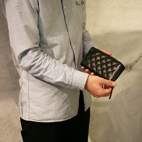10月 誕生石 キルティングファスナーロングウォレット / 長財布
