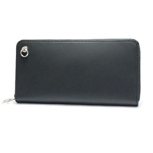 ファスナーロングウォレット -BLACK- / 長財布