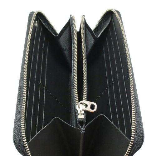 【JAM HOME MADE(ジャムホームメイド)】ファスナーロングウォレット -BLACK- / 長財布 メンズ ユニセックス ブランド 人気 使い始め 革 ブラック ヌメ革 シンプル プレゼント ギフト 誕生日 ウォレットチェーン