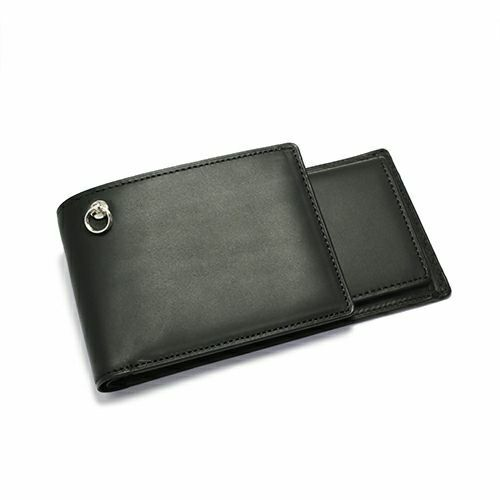 【JAM HOME MADE(ジャムホームメイド)】セミロングウォレット -BLACK- / 長財布 メンズ ブランド 人気 革 ブラック ヌメ革 シンプル カード 小銭入れ たくさん入る ギフト 誕生日 ウォレットチェーン