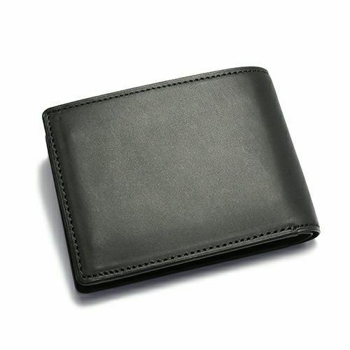 【JAM HOME MADE(ジャムホームメイド)】ミディアムウォレット -BLACK- / 二つ折り財布 メンズ ブランド 人気 革 ブラック ヌメ革 シンプル カード 小銭入れ たくさん入る ギフト 誕生日 ウォレットチェーン