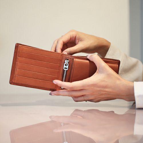 ミディアムウォレット -BLACK- / 二つ折り財布 / 財布・革財布