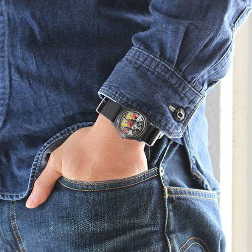 【ジャムホームメイド(JAMHOMEMADE)】ミッキー アナログ ウォッチ - ブラック / 腕時計