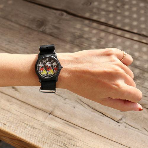 """オンラインショップ限定 ミッキー""""MICKEY""""アナログウォッチ ペア -BLACK×BLUE- / 腕時計"""