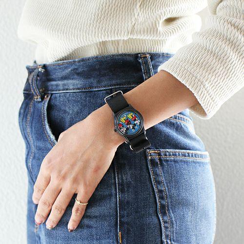 """オンラインショップ限定 ミッキー""""MICKEY""""アナログウォッチ ペア -BLUE×BLUE- / 腕時計"""