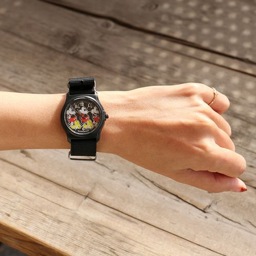 【ジャムホームメイド(JAMHOMEMADE)】オンラインショップ限定 ミッキー アナログ ウォッチ ペア - ブラック × ブラック / 腕時計